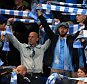 FILE PHOTO: Manchester City to be charged by UEFA after fans booed the Champions League anthem before their game against Sevilla Manchester City fans soak up the atmosphere at the Etihad Stadium ... Soccer - UEFA Champions League - Group D - Manchester City v Juventus - Etihad Stadium ... 15-09-2015 ... Manchester ... Spain ... Photo credit should read: Mike Egerton/EMPICS Sport. Unique Reference No. 24125605 ...