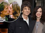 LONDON, ENGLAND - OCTOBER 21:  Ronnie Wood and wife Sally Humphreys attend the National Open Art Competition Private View at Royal College of Art on October 21, 2015 in London, England.  (Photo by Dave J Hogan/Getty Images)