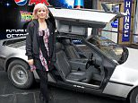 Editorial Use Only - No Merchandising  Mandatory Credit: Photo by JABPromotions/REX Shutterstock (5287970q)  Lily Allen  'Back to the Future II' film screening hosted by Pepsi Max for Future Day,  Empire Cinema, London, Britain - 21 Oct 2015  To celebrate Future Day Pepsi Max hosted an exclusive screening of Back to the Future II at the Empire Cinema, Leicester Square - Home of the Pepsi Max IMAX.