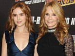 """In this image released by Starpix, actress Lea Thompson, right, and her actress daughter Zoey Deutch arrive at the """"Back To The Future"""" 30th Anniversary celebration, Wednesday, Oct. 21, 2015, in New York. Thompson portrayed Maggie McFly and Lorraine McFly in the trilogy. (Matthew Taplinger/Starpix via AP)"""