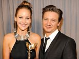 SANTA MONICA, CA - FEBRUARY 23:  Jennifer Lawrence and Jeremy Renner attend the 2013 Film Independent Spirit Awards at Santa Monica Beach on February 23, 2013 in Santa Monica, California.  (Photo by Kevin Mazur/WireImage)