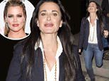 'Real Housewives of Beverly Hills' star, Kyle Richards seen wearing blue denim jeans, a suit jacket and carrying a Chanel designer handbag was seen leaving 'Craigs' Restaurant in West Hollywood,CA\n\nPictured: Kyle Richards\nRef: SPL1156966  201015  \nPicture by: SPW / Splash News\n\nSplash News and Pictures\nLos Angeles: 310-821-2666\nNew York: 212-619-2666\nLondon: 870-934-2666\nphotodesk@splashnews.com\n