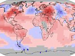 Temperature anomalies and percentiles are shown on the gridded maps below. The anomaly map on the left is a product of a merged land surface temperature (Global Historical Climatology Network, GHCN) and sea surface temperature (ERSST.v4) anomaly analysis as described in Huang et al. (2015). Temperature anomalies for land and ocean are analyzed separately and then merged to form the global analysis. For more information, please visit NCDC's Global Surface Temperature Anomalies page. The percentile map on the right provides additional information by placing the temperature anomaly observed for a specific place and time period into historical perspective, showing how the most current month, season or year compares with the past.