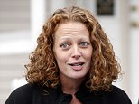 FILE- In this Oct. 31, 2014 file photo, nurse Kaci Hickox speaks to the media outside her home in Fort Kent, Maine. Hickox, who sharply criticized being quarantined at a New Jersey hospital in 2014 because she had contact with Ebola patients in West Africa, has filed a lawsuit against the state of New Jersey. The nurse who volunteered with Doctors Without Borders in Sierra Leone during the deadly Ebola outbreak, was stopped when she arrived at Newark Liberty International airport and questioned over several hours before being sent to stay in quarantine in a tent outside of a hospital in Newark, N.J. (AP Photo/Robert F. Bukaty, File)