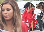 JESSICA WRIGHT AND CAROL WRIGHT SEEN GETTING CAUGHT OUT IN THE RAIN WHEN ARRIVING FOR FILMING FOR MICHAEL HUSSAINI 21ST. BIRTHDAY PARTY AT SUGR HUT IN BRENTWOOD ESSEX. WEDNESDAY 21ST OCTOBER 2015 - MAGICMOMENTSUK - 07753 30 30 77