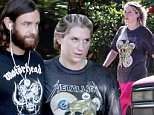 144019, EXCLUSIVE: Kesha and her boyfriend Brad Ashenfelter sport dual metal t-shirts after a workout in LA. Kesha wore a Metalica shirt and Brad Ashenfelter wore a Motorhead shirt. Los Angeles, California - Wednesday, October 21, 2015. Photograph: KVS, © PacificCoastNews. Los Angeles Office: +1 310.822.0419 sales@pacificcoastnews.com FEE MUST BE AGREED PRIOR TO USAGE