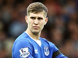 John Stones of Everton during the Barclays Premier League match between Everton and Manchester United played at Goodison Park, Liverpool on October 17th 2015