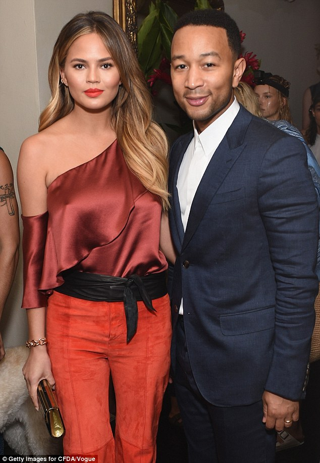 No bump yet: The swimsuit model was seen at the CFDA/ Vogue Fashion Fund Show in LA on Monday
