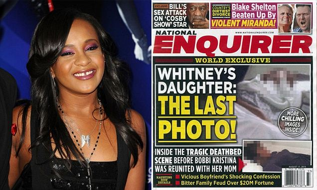 Bobbi Kristina's DEATHBED photo taken at Georgia hospice on National Enquirer cover