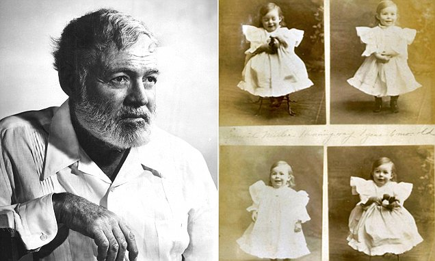 Macho author Ernest Hemingway's mother raised him as a little girl and 'twin' to his older
