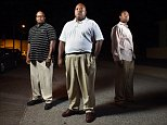 POCOMOKE CITY, MD - JULY 13: Pocomoke City Police Department members, Lynell Green, left, and Franklin L. Savage, right, pose for a portrait with their former police chief, Kelvin Sewell, center, on Monday July 13, 2015 in Pocomoke City, MD. Sewell claims he was fired because he would not fire Green and Savage after they had filed EEOC complaints. (Photo by Matt McClain/The Washington Post via Getty Images)