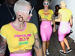 Amber Rose arrives to Playhouse Nightclub wearing crazy outfit!  Pictured: Amber Rose Ref: SPL1159212  231015   Picture by: Holly Heads LLC / Splash News  Splash News and Pictures Los Angeles: 310-821-2666 New York: 212-619-2666 London: 870-934-2666 photodesk@splashnews.com