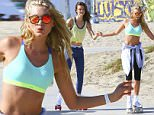 Victoria's Secret Angels Elsa Hosk and Jac Jagaciak spotted skating on the Venice Beach Bike pad. The top models seem playful while trying to keep their balance for the latest VS casual wear campaign. \n\nRef: SPL1157897  221015  \nPicture by: ITM / Splash News\n\nSplash News and Pictures\nLos Angeles: 310-821-2666\nNew York: 212-619-2666\nLondon: 870-934-2666\nphotodesk@splashnews.com\n