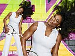 Serena Williams whips her hair as she cuts a striking figure in white tailored jumpsuit for high fashion Harper's Bazaar shoot