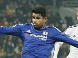 Football - Dynamo Kiev v Chelsea - UEFA Champions League Group Stage - Group G - NSK Olimpiyskyi Stadium, Kiev, Ukraine - 20/10/15  Chelsea's Diego Costa shoots at goal  Action Images via Reuters / John Sibley  Livepic  EDITORIAL USE ONLY.