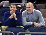 Celebrities attend Arizona Coyotes vs New York Rangers game at Madison Square Garden on October 22, 2015 in New York City.  Pictured: Matt Lauer Ref: SPL1156171  221015   Picture by: JD Images / Splash News  Splash News and Pictures Los Angeles: 310-821-2666 New York: 212-619-2666 London: 870-934-2666 photodesk@splashnews.com