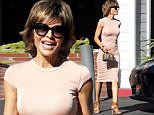 Lisa Rinna was spotted carrying a tiny Saint Laurent handb ag, while out and about in Beverly Hills. The reality star was wearing a nude colored dress, on Thursday, October 22, 2015  X17online.com\\nOK FOR WEB SITE AT 20PP\\nMAGAZINES NORMAL FEES\\nAny queries please call Lynne or Gary on office 0034 966 713 949 \\nGary mobile 0034 686 421 720 \\nLynne mobile 0034 611 100 011\\nAlasdair mobile  0034 630 576 519\\n