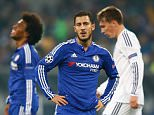 KIEV, UKRAINE - OCTOBER 20:  Eden Hazard of Chelsea looks on during the UEFA Champions League Group G match between FC Dynamo Kyiv and Chelsea at the Olympic Stadium on October 20, 2015 in Kiev, Ukraine.  (Photo by Clive Rose/Getty Images)
