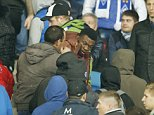 Football - Dynamo Kiev v Chelsea - UEFA Champions League Group Stage - Group G - NSK Olimpiyskyi Stadium, Kiev, Ukraine - 20/10/15  Fan looks on after being attacked in the crowd   Action Images via Reuters   Livepic  EDITORIAL USE ONLY.