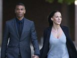 ***File picture***Original caption below. Due to appear today at Guildford Crown Court 23/10/15  National News and Pictures  Date: 30/09/15  PH: David Mirzoeff   Pictured: Former Premier League striker, Marcus Bent (left)  Caption: Former Premier League striker, Marcus Bent, leaves Staines Magistrates Court, where he faced charges of possession of a class A drug and affray