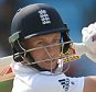 England's Joe Root hits out during the second Test Match between Pakistan and England played at the Dubai cricket stadium in Dubai on October 23rd 2015