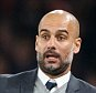 Bayern Munich manager Pep Guardiola during the UEFA Champions League Group F match between Arsenal and Bayern Munich played at the Emirates Stadium, London on October 20th 2015