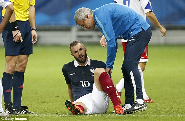 Benzema picked up his thigh injury on international duty with France during their 4-0 win over Armenia