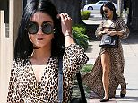 Picture Shows: Vanessa Hudgens  October 23, 2015    'Spring Breaker's actress Vanessa Hudgens is spotted at a hair salon on Melrose in Los Angeles, California. Vanessa was rocking a long leopard print dress during her outing.     Non Exclusive  UK RIGHTS ONLY    Pictures by : FameFlynet UK © 2015  Tel : +44 (0)20 3551 5049  Email : info@fameflynet.uk.com
