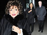 22.OCT.2015 - LONDON - UK **EXCLUSIVE ALL ROUND PICTURES** ACTOR MICHAEL CAINE IS JOINED BY HIS WIFE SHAKIRA CAINE AND ACTRESS JOAN COLLINS  FOR AN EVENING AT THE IVY!  BYLINE MUST READ : XPOSUREPHOTOS.COM ***UK CLIENTS - PICTURES CONTAINING CHILDREN PLEASE PIXELATE FACE PRIOR TO PUBLICATION *** **UK CLIENTS MUST CALL PRIOR TO TV OR ONLINE USAGE PLEASE TELEPHONE  44 208 344 2007 ***