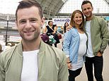 London, United Kingdom. 23rd October 2015 -- Harry Judd an English musician who is best known as the drummer for British pop rock band McFly and his pregnant wife Izzy Judd attend The Baby Show 2015 at Olympia London. -- Musician Harry Judd, with his pregnant wife Izzy Judd, and former TOWIE star Cara Kilbey, now pregnant, attended The Baby Show 2015 at the Olympia in London.