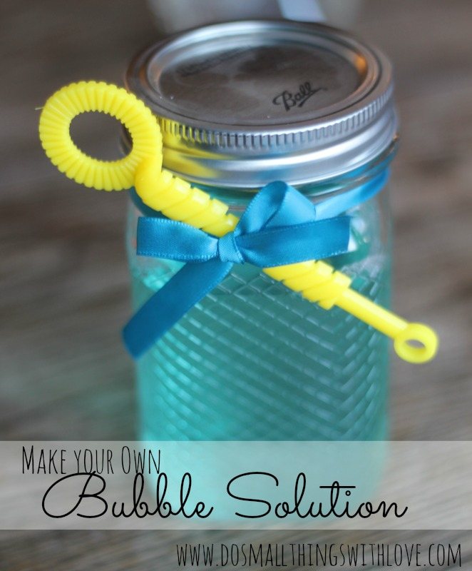 make your own bubble solution