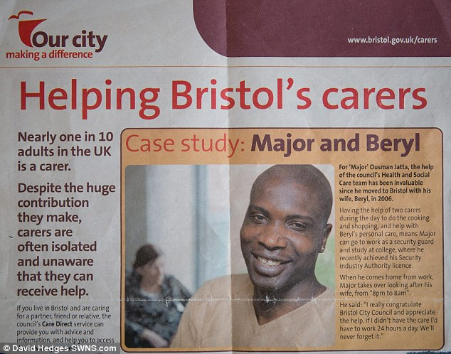Mr Jatta featured in promotional material for Bristol City Council but is now at odds with the local authority over the way he feels he and his wife have been treated