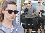 Picture Shows: Jennifer Garner  October 23, 2015\n \n American actress Jennifer Garner is seen walking hand in hand with her youngest child, son Samuel, while out and about in Los Angeles, California.\n \n The star, who split from husband Ben Affleck earlier this year, appeared to have come from the gym in a grey hooded sweatshirt, cropped black leggings and a pair of blue sneakers.\n \n Non Exclusive\n UK RIGHTS ONLY\n \n Pictures by : FameFlynet UK © 2015\n Tel : +44 (0)20 3551 5049\n Email : info@fameflynet.uk.com