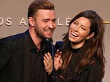 BEVERLY HILLS, CA - OCTOBER 23:  Honorees Justin Timberlake (L) and Jessica Biel accept the Inspiration Award onstage during the 2015 GLSEN Respect Awards at the Beverly Wilshire Four Seasons Hotel on October 23, 2015 in Beverly Hills, California.  (Photo by Jonathan Leibson/Getty Images for GLSEN)