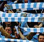MANCHESTER, ENGLAND - SEPTEMBER 15:  Manchester City fans show their support during the  UEFA Champions League Group D match between Manchester City FC and Juventus at the Etihad Stadium on September 15, 2015 in Manchester, United Kingdom.  (Photo by Alex Livesey/Getty Images)