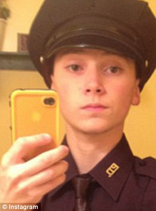 The teenager had posted on social media that he wanted to join the police and often posed dressed up as an officer