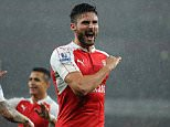 Barclays Premier League. Arsenal v Everton 2410/15: Picture Kevin Quigley/solo syndication  OLIVIER GIROUD SCORES 1-0