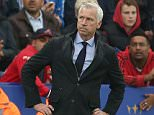 Crystal Palace manager Alan Pardew looks at Leicester City Manager, Claudio Ranieri as he carries the ball during the Barclays Premier League match between Leicester City and Crystal Palace played at The King Power Stadium, Leicester, on October 24th 2015