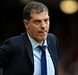 File photo of West Ham United manager Slaven Bilic dated 26/09/2015.  Slaven Bilic has brushed off Sam Allardyce's criticism of Andy Carroll and claims the striker is totally focused on getting fit this season.   PRESS ASSOCIATION Photo. Issue date: Thursday October 15, 2015. See PA story SOCCER West Ham. Photo credit should read John Walton/PA Wire.