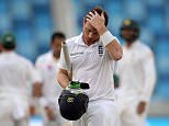 DUBAI, UNITED ARAB EMIRATES - OCTOBER 25:  Ian Bell of England leaves the field after being dismissed by Zulfiqar Babar of Pakistan during day four of the 2nd test match between Pakistan and England at Dubai Cricket Stadium on October 25, 2015 in Dubai, United Arab Emirates.  (Photo by Gareth Copley/Getty Images)