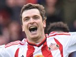 Dated: 25/10/2015 BARCLAYS PREMIER LEAGUE SUNDERLAND v NEWCASTLE UNITED at the Stadium of Light GOAL ... Adam Johnson celebrates after scoring a late first half penalty to put Sunderland 1-0 ahead