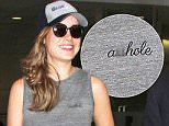 23.OCT.2015 - LOS ANGELESN - USA\n***STRICTLY NOT AVAILABLE FOR DAILY MAIL ONLINE ***\nACTRESS BRIE LARSON DONS A TOP WITH 'ASSHOLE' WITTEN ON IT AS SHE ARRIVES AT LAX!\nBYLINE MUST READ : XPOSUREPHOTOS.COM\n*AVAILABLE FOR UK SALE ONLY*\nBYLINE MUST READ : XPOSUREPHOTOS.COM\n***UK CLIENTS - PICTURES CONTAINING CHILDREN PLEASE PIXELATE FACE PRIOR TO PUBLICATION ***\n**UK CLIENTS MUST CALL PRIOR TO TV OR ONLINE USAGE PLEASE TELEPHONE  44 208 344 2007 ***