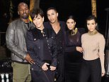LOS ANGELES, CA - OCTOBER 23:  (L-R) Corey Gamble, Kris Jenner, Olivier Rousteing, Kim Kardashian West and Kourtney Kardashian attend Olivier Rousteing & Beats Celebrate In Los Angeles at Private Residence on October 23, 2015 in Los Angeles, California.  (Photo by Stefanie Keenan/Getty Images for Apple)