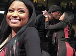 Meek Mill and Nicki Minaj kiss after their performance at the Power 99 POWERHOUSE 2015 at the Wells Fargo Center on Friday, Oct. 23, 2015, in Philadelphia. (Photo by Owen Sweeney/Invision/AP)