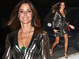 EXCLUSIVE: Kelly Benison steps out in shimmery Jill Stuart dress this evening for private dinner in at the designers penthouse in Soho  Pictured: Kelly Bensimon Ref: SPL1159483  231015   EXCLUSIVE Picture by: BlayzenPhotos  Splash News and Pictures Los Angeles: 310-821-2666 New York: 212-619-2666 London: 870-934-2666 photodesk@splashnews.com
