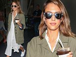 24 Oct 2015 - LOS ANGELES - USA  JESSICA ALBA AT LAX   BYLINE MUST READ : XPOSUREPHOTOS.COM  ***UK CLIENTS - PICTURES CONTAINING CHILDREN PLEASE PIXELATE FACE PRIOR TO PUBLICATION ***  **UK CLIENTS MUST CALL PRIOR TO TV OR ONLINE USAGE PLEASE TELEPHONE  44 208 344 2007 ***
