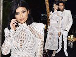 LOS ANGELES, CA - OCTOBER 23:  Kylie Jenner and Tyga attend Olivier Rousteing & Beats Celebrate In Los Angeles at Private Residence on October 23, 2015 in Los Angeles, California.  (Photo by Stefanie Keenan/Getty Images for Apple)