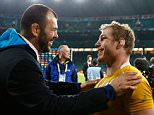 LONDON, ENGLAND - OCTOBER 25:  Michael Cheika, Head Coach of Australia congratulates David Pocock of Australia after winning the 2015 Rugby World Cup Semi Final match between Argentina and Australia at Twickenham Stadium on October 25, 2015 in London, United Kingdom.  (Photo by Dan Mullan/Getty Images)