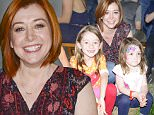 CULVER CITY, CA - OCTOBER 25:  Alyson Hannigan and daughters attend King Of Harts By Melissa Joan Hart Supports The 26th Annual Elizabeth Glaser Pediatric AIDS Foundation A Time For Heroes Family Festival at Smashbox Studios on October 25, 2015 in Culver City, California.  (Photo by Michael Bezjian/Getty Images for Melissa Joan Hart)