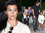 25 OCT 2015 - LOS ANGELES - USA **EXCLUSIVE ALLROUND PICTURES** *** STRICTLY AVAILABLE FOR UK AND GERMANY USE ONLY *** KOURTNEY KARDASHIAN PICTURED SEEN WITH CHILDREN PENELOPE AND MASON LEAVING DINNER IN CALABASAS WITH MYSTERY MALE COMPANION WHO APPEARED TO BE PICKING UP SCOTT DISICK'S FATHERING JOB!!! BYLINE MUST READ : XPOSUREPHOTOS.COM ***UK CLIENTS - PICTURES CONTAINING CHILDREN PLEASE PIXELATE FACE PRIOR TO PUBLICATION *** *UK CLIENTS MUST CALL PRIOR TO TV OR ONLINE USAGE PLEASE TELEPHONE 0208 344 2007*